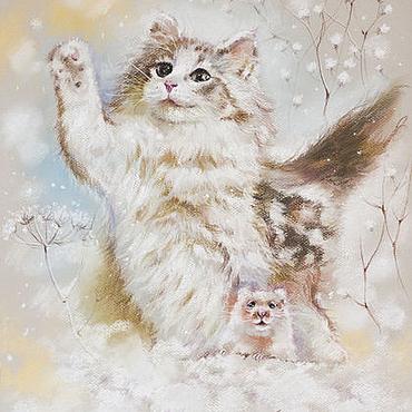 Картины и панно ручной работы. Ярмарка Мастеров - ручная работа Нежный февраль - картина пастелью. Handmade.