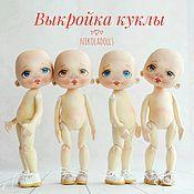 Портретная кукла ручной работы. Ярмарка Мастеров - ручная работа Выкройка текстильной куклы. Handmade.