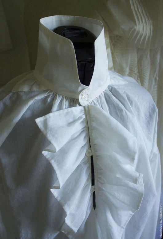 Для мужчин, ручной работы. Ярмарка Мастеров - ручная работа. Купить Мужская сорочка начало 19 века. Handmade. Белый