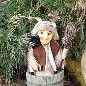 Куклы и игрушки ручной работы. Ярмарка Мастеров - ручная работа Баба Яга. Валяная (войлочная) игрушка (кукла) из шерсти.. Handmade.