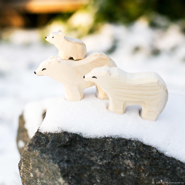 Семья белых медведей, Вальдорфские куклы и звери, Суоярви,  Фото №1