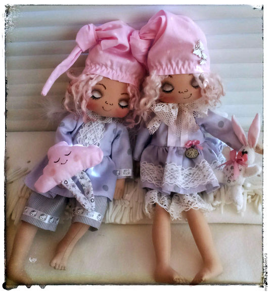Куклы тыквоголовки ручной работы. Ярмарка Мастеров - ручная работа. Купить Ангелочки Соньки. Handmade. Ангелочек, соня, подарок детям