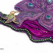 Украшения ручной работы. Ярмарка Мастеров - ручная работа Вышитое бисером Колье экзотический цветок с колибри. Handmade.