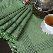 Для дома и интерьера handmade. Livemaster - original item Set of homespun table napkins green set. Handmade.