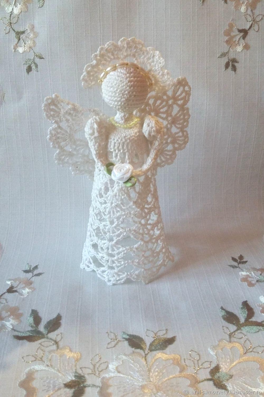 Ангел вязаный. Ангелочек, Интерьерная кукла, Екатеринбург,  Фото №1