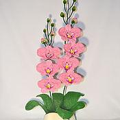 Цветы и флористика handmade. Livemaster - original item Orchid beaded Rosalyn. Handmade.