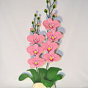 Цветы и флористика ручной работы. Ярмарка Мастеров - ручная работа Орхидея из бисера Розалин. Handmade.