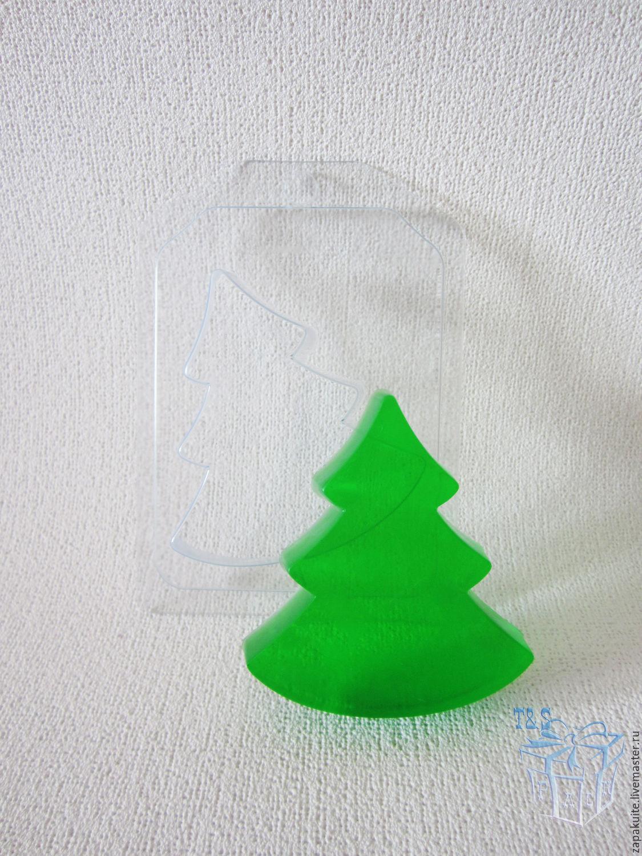 Новогодняя елочка форма для мыла своими руками