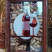 Копилки ручной работы. Ярмарка Мастеров - ручная работа Копилка TIME for WINE для винных пробок и пробок от шампанского. Handmade.