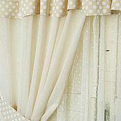 Для дома и интерьера ручной работы. Ярмарка Мастеров - ручная работа Комплект штор и тюль на кухню. Handmade.