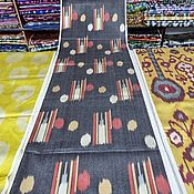 Материалы для творчества handmade. Livemaster - original item Uzbek silk ikat. The cloth hand weaving of Adras. Handmade.