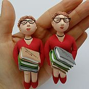 Куклы и игрушки ручной работы. Ярмарка Мастеров - ручная работа Фигурка Библиотекарь. Handmade.