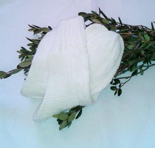Носки, Чулки ручной работы. Ярмарка Мастеров - ручная работа. Купить Носки вязаные. Handmade. Однотонный, носки женские