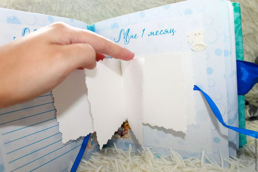 """Подарки для новорожденных, ручной работы. Ярмарка Мастеров - ручная работа. Купить Книга """"Мамины заметки""""+фотоальбом. Handmade. Бирюзовый"""