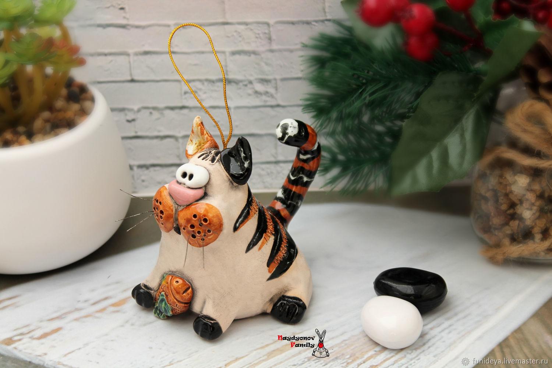 Cat, ceramic bell, Kolokolchiki, Vladimir,  Фото №1