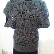 Blouses handmade. Livemaster - original item openwork tunic. Handmade.