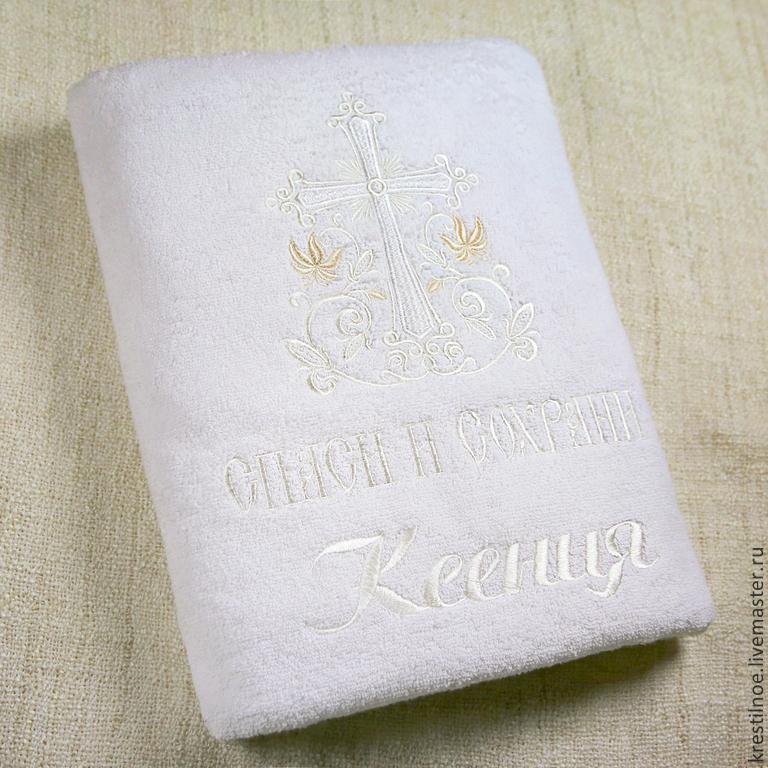Крестильная пеленка вышивка