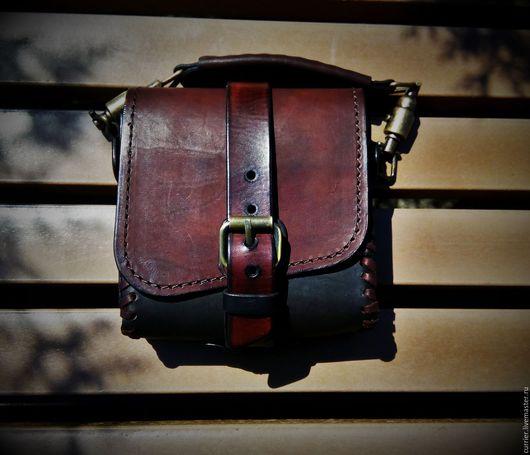 Мужские сумки ручной работы. Ярмарка Мастеров - ручная работа. Купить Сумка на пояс. Handmade. Натуральная кожа, натуральная кожа