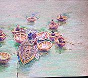 Картины и панно ручной работы. Ярмарка Мастеров - ручная работа Вьетнам, рыбаки. Handmade.