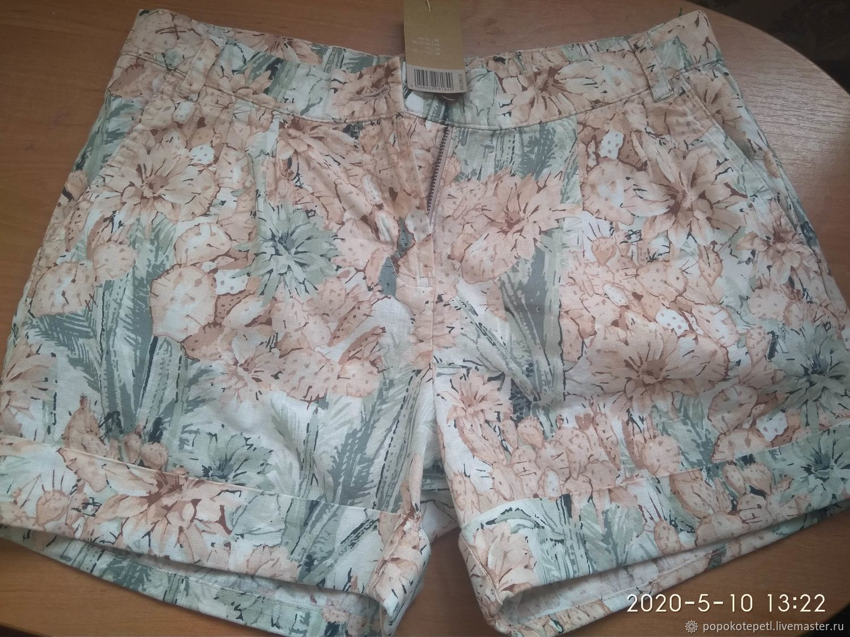 summer shorts, linen cotton, vintage England, Vintage clothing, Novorossiysk,  Фото №1