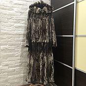 Одежда ручной работы. Ярмарка Мастеров - ручная работа Шуба норковая полустрижка в пол. Handmade.