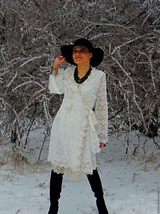 Платья ручной работы. Ярмарка Мастеров - ручная работа. Купить Платье   цвета экрю  в стиле БОХО (№3). Handmade.