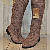 Обувь ручной работы. Ярмарка Мастеров - ручная работа Демисезонные сапожки.. ..Классика..Olga ...  цвет-какао...полушерсть... Handmade.