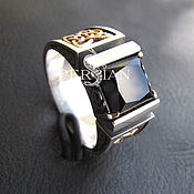 Украшения handmade. Livemaster - original item Men`s silver ring with onyx. Handmade.