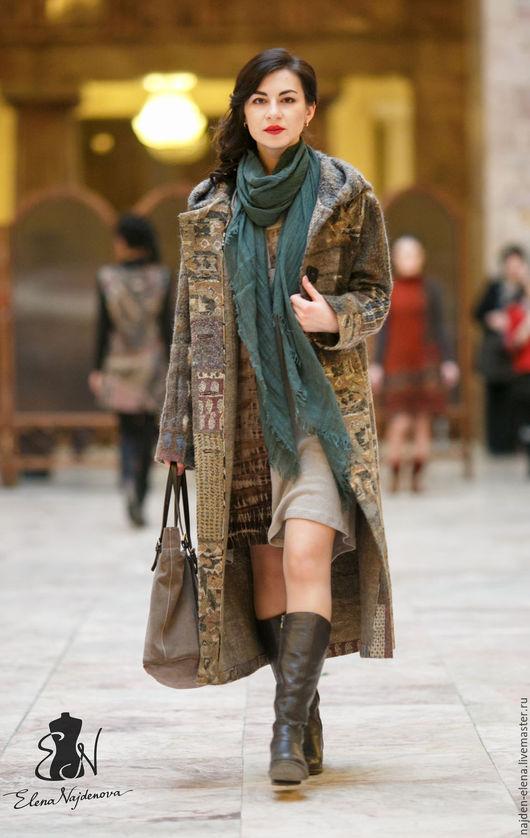 Верхняя одежда ручной работы. Ярмарка Мастеров - ручная работа. Купить авторское  пальто Пэчворк. Handmade. Комбинированный, одежда из войлока