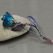 """Украшения ручной работы. Ярмарка Мастеров - ручная работа Брошь """"Роза""""  лэмпворк & медь. Handmade."""