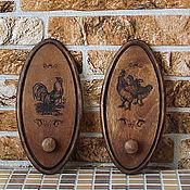 """Для дома и интерьера handmade. Livemaster - original item Набор вешалок для кухни """" Птичий двор"""". Handmade."""
