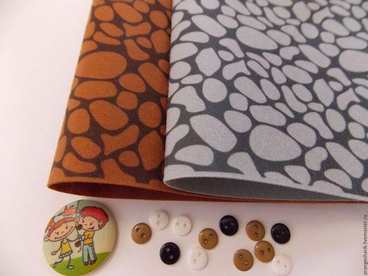 Другие виды рукоделия ручной работы. Ярмарка Мастеров - ручная работа. Купить Фетр корейский с рисунком Камни. Handmade. Комбинированный