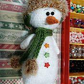 Куклы и игрушки handmade. Livemaster - original item Soft knitted snowman toy. Handmade.