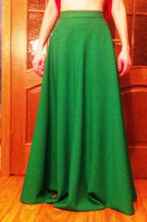 Юбки ручной работы. Ярмарка Мастеров - ручная работа. Купить Юбка. Handmade. Зеленый изумрудный, юбка, юбка полусолнце
