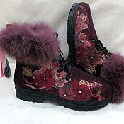 """Обувь ручной работы. Ярмарка Мастеров - ручная работа Ботинки """"Анютки """". Handmade."""