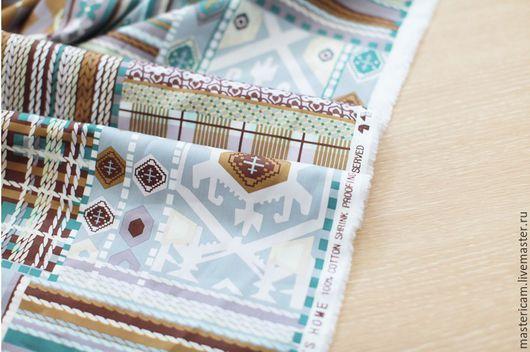 Ткань корейский хлопок 100% с рисунком лоскутки