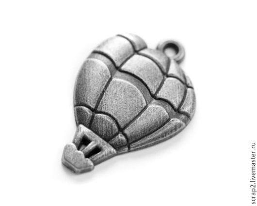 Открытки и скрапбукинг ручной работы. Ярмарка Мастеров - ручная работа. Купить Металлические подвески Воздушный шар. Handmade. Серебряный