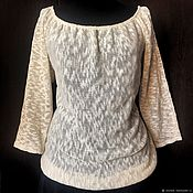 Одежда handmade. Livemaster - original item Summer blouse Natural Linen, soft Italian yarn. Handmade.
