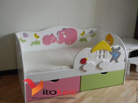 Детская ручной работы. Ярмарка Мастеров - ручная работа. Купить Детская кровать. Handmade. Комбинированный, массив дерева, кровать