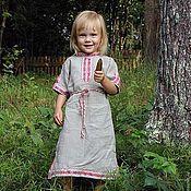 Русский стиль ручной работы. Ярмарка Мастеров - ручная работа Детское платье-туника. Handmade.