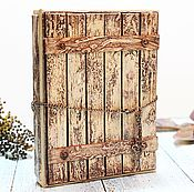 Подарки к праздникам ручной работы. Ярмарка Мастеров - ручная работа Деревянный блокнот  с дощечками блокнот для девушки. Handmade.