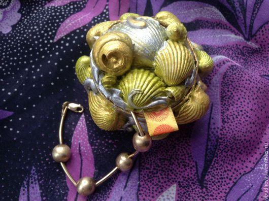 Персональные подарки ручной работы. Ярмарка Мастеров - ручная работа. Купить Шкатулка для украшений - МОРЕ. Handmade. Салатовый, подарок для девочки