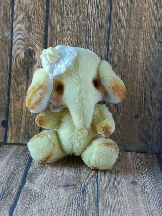 Мишки Тедди ручной работы. Ярмарка Мастеров - ручная работа. Купить Желтый слон! 8 см!. Handmade. Мишки тедди