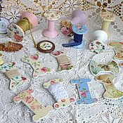 Collecti accessories handmade. Livemaster - original item Decoupage reels are great for lace, ribbons, ribbons, wood to order.. Handmade.