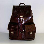 Сумки и аксессуары handmade. Livemaster - original item Backpack leather 776B. Handmade.