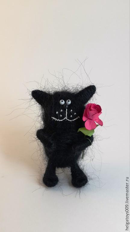 Куклы и игрушки ручной работы. Ярмарка Мастеров - ручная работа. Купить Черный кот. Handmade. Черный, котенок, черный котик