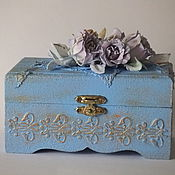 Для дома и интерьера ручной работы. Ярмарка Мастеров - ручная работа Шкатулка с розами из фоамирана. Handmade.