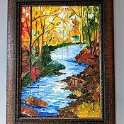 """Картины ручной работы. Ярмарка Мастеров - ручная работа Картина маслом """"Осень в лесу"""". Handmade."""