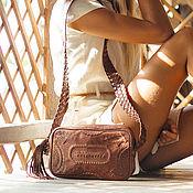 Сумки и аксессуары ручной работы. Ярмарка Мастеров - ручная работа Jamaica, кожаная сумка в стиле бохо. Handmade.