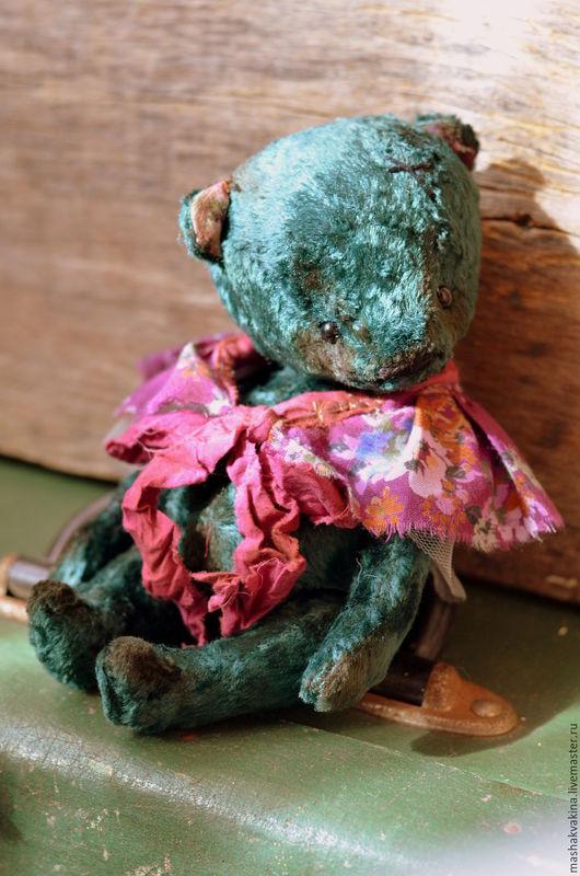 Мишки Тедди ручной работы. Ярмарка Мастеров - ручная работа. Купить Изумрудинка:). Handmade. Тёмно-бирюзовый, стеклянные глазки